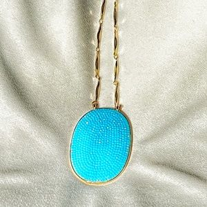 Kate Spade Blue toned long pendant necklace